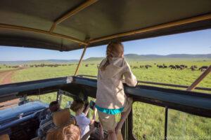 traveling with children on safari Tanzania